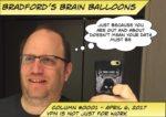 Logo for Bradford's Brain Balloons stating VPN is not just for work