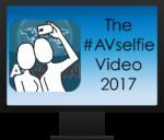 Videom Monitor saying The #AVSelfie Video 2017