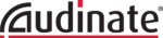 Audinate Logo, It is stylized text of the word Audinate