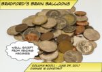 """Picture of a stack of coins for Bradford's Brain Balloon #0011 - Change is constant. A thought bubble says """"Well, except from vending machines."""""""