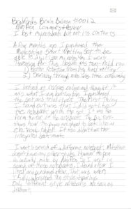 A page that Bradford wrote on