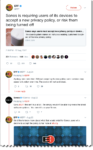 Collection of Tweets between EFF showing how the information is not clear
