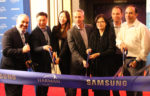 Samsung Onyx ribbon cutting