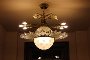 Roosevelt Chandelier in Olin Mansion