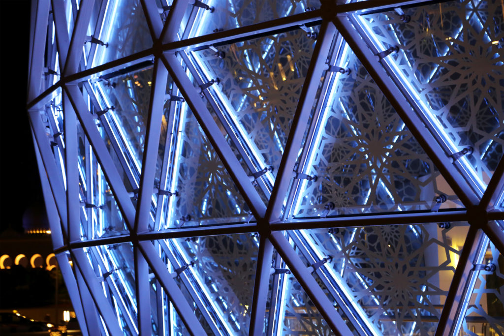 Shk Zayed Grand Mosque Domes closeup