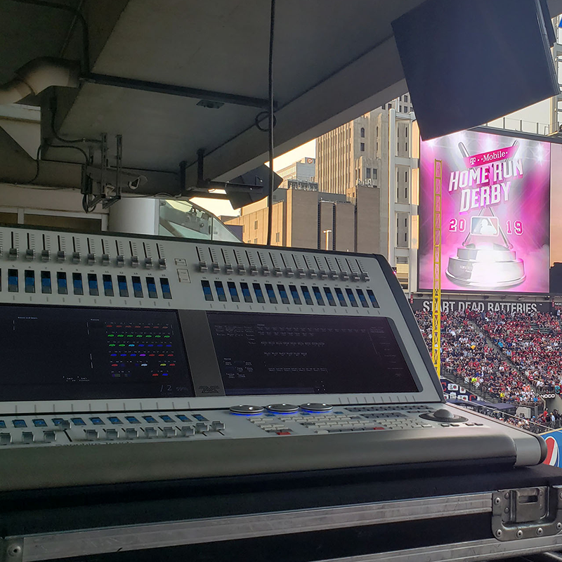 Avolites Sapphire board at MLB All-Star Game 2019