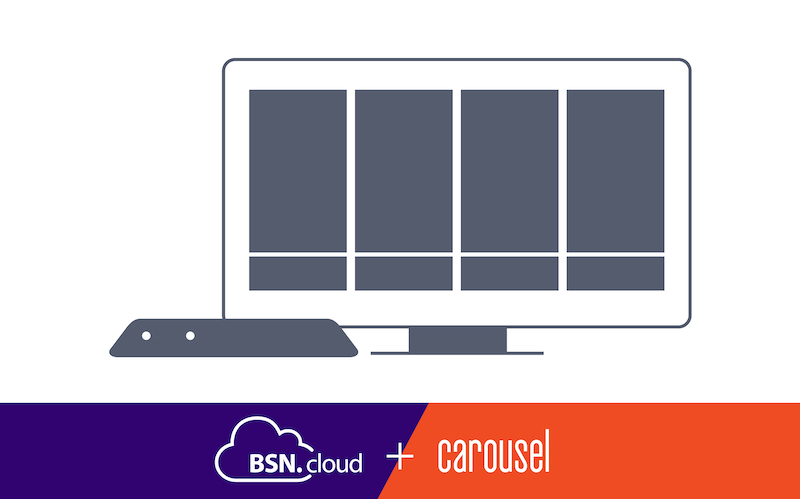 Carousel Digital Signage announces Iintegration with BrightSign's BSN.cloud