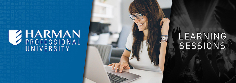 HARMAN Professional Solutions announces free HARMAN Pro University learning sessions
