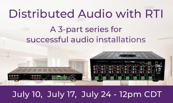 RTI Distributed Audio webinars