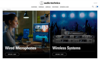 Audio-Technica unveils redesigned website