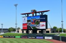 Planar outdoor scoreboard Wind Surge