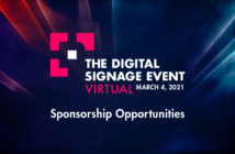 Sponsorships Available for The Digital Sigange Event